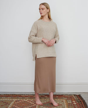 ANNE Lyocell Jersey Skirt In Taupe