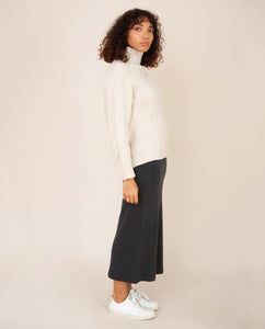 ANNE Lyocell Jersey Skirt In Grey Marl