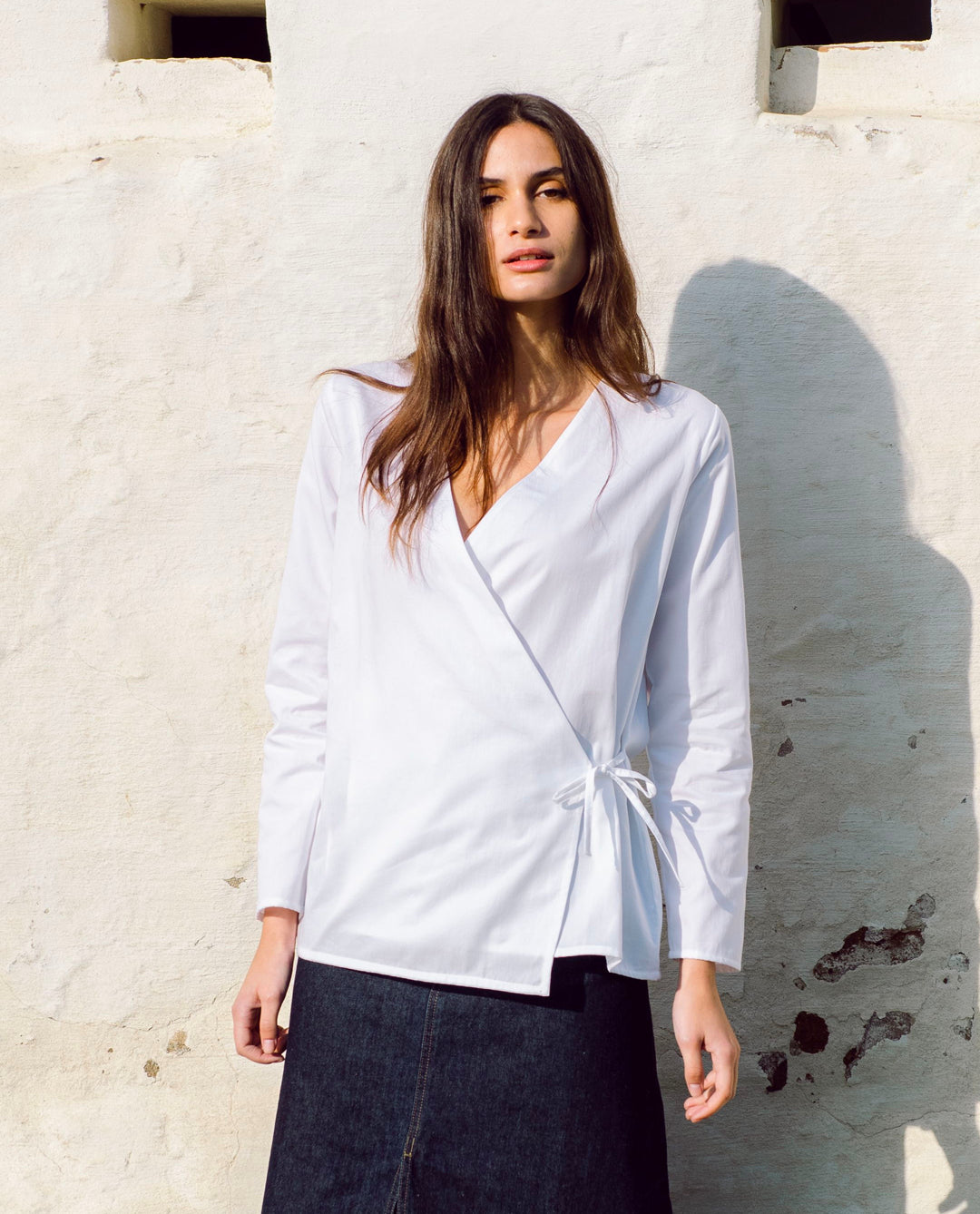 Arley Organic Cotton Top In White