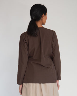 Arley Organic Cotton Top In Chocolate