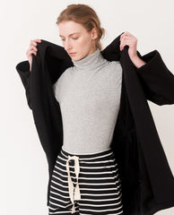 ARIANNA Organic Cotton Cardigan In Black