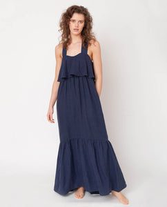 Arya-May Linen Dress In Midnight