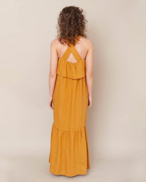 Arya-May Linen Dress In Sun