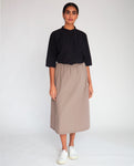 Ashley Organic Cotton Skirt In Olive