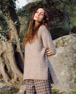 Austyn-Marie Alpaca & Organic Cotton Jumper In Brown