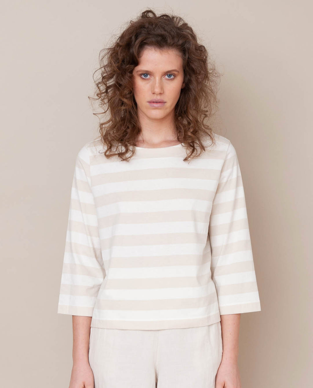 Babi Organic Cotton Top In Off White & Bone