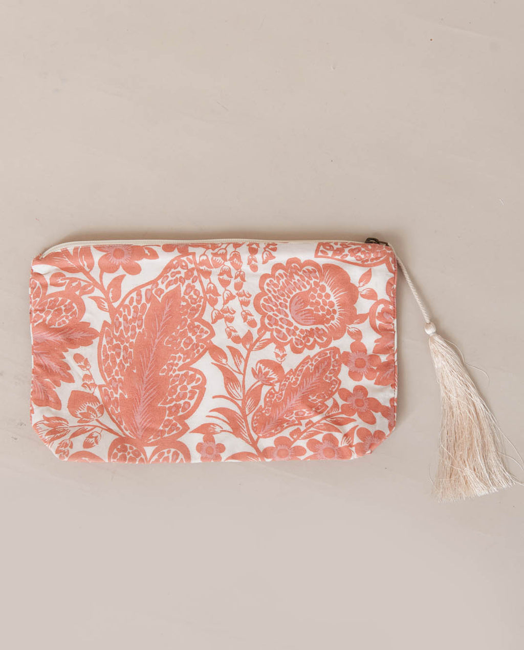 Gauri Organic Cotton Vanity Bag In Pink Print