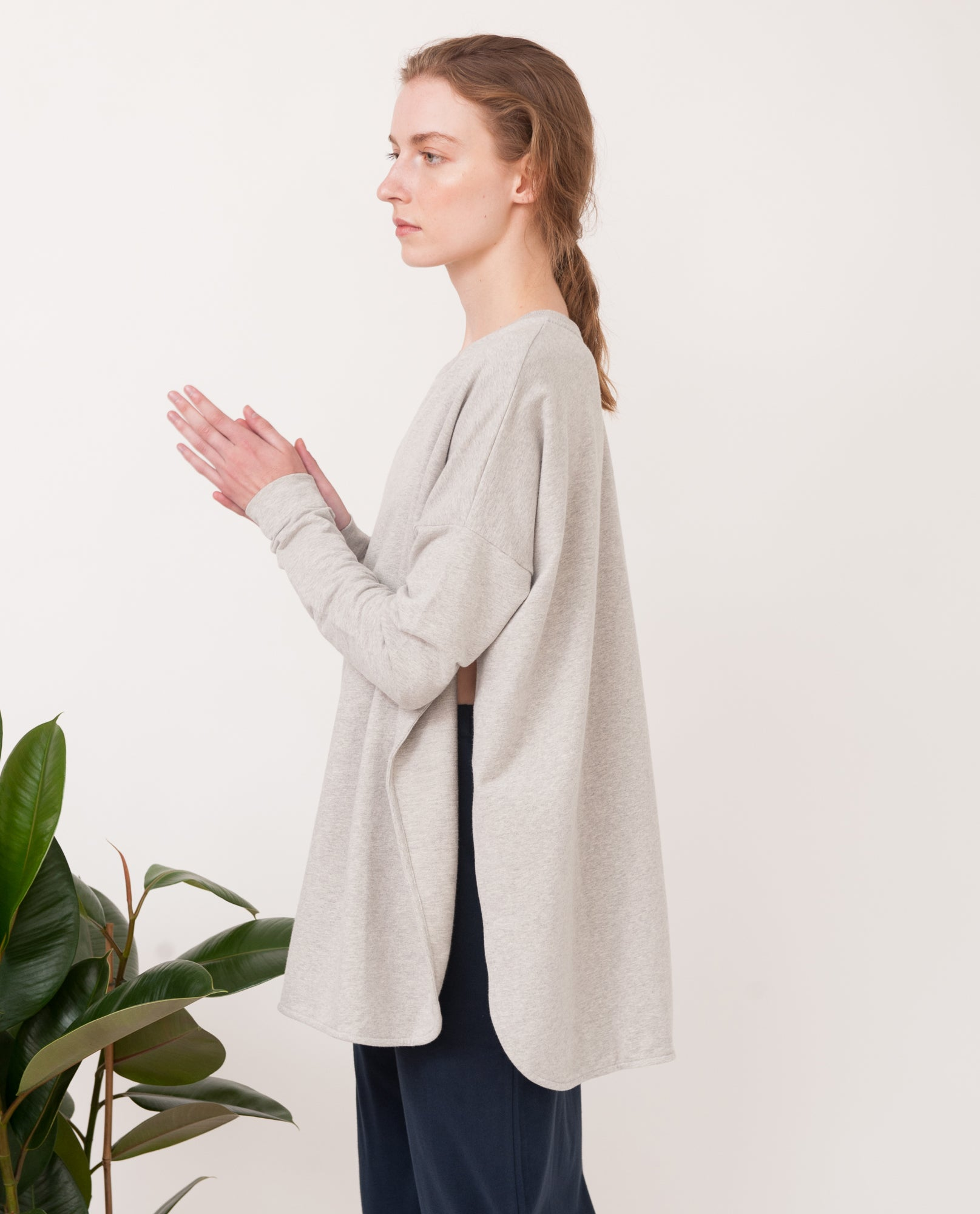 KATE Organic Cotton Sweatshirt In Light Grey