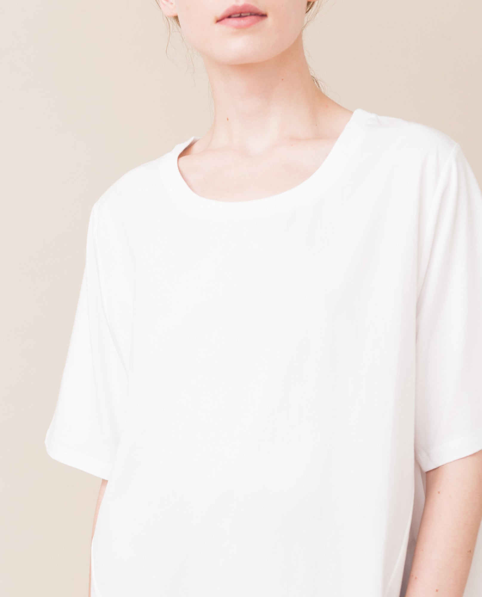 KATIE Organic Cotton Top In White