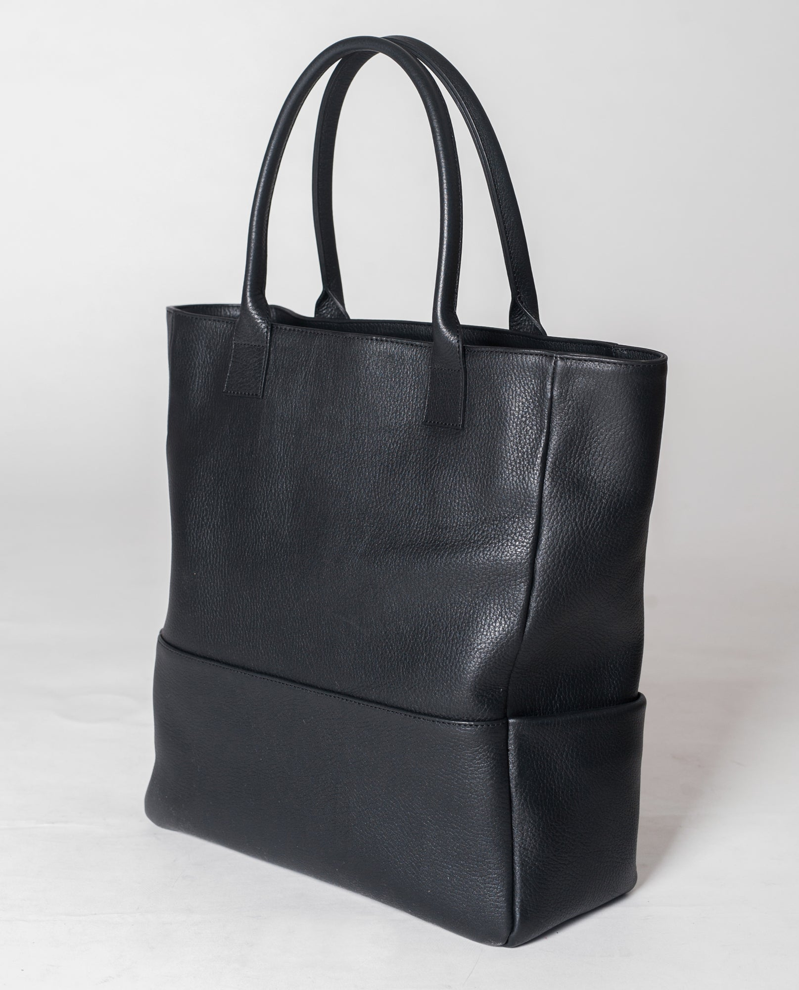 MONTPELLIER Leather Shopper Bag In Black