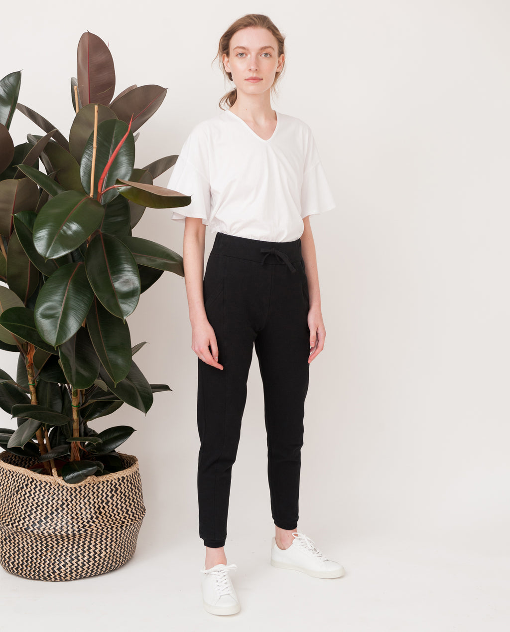 RAVEN Organic Cotton Trousers In Black