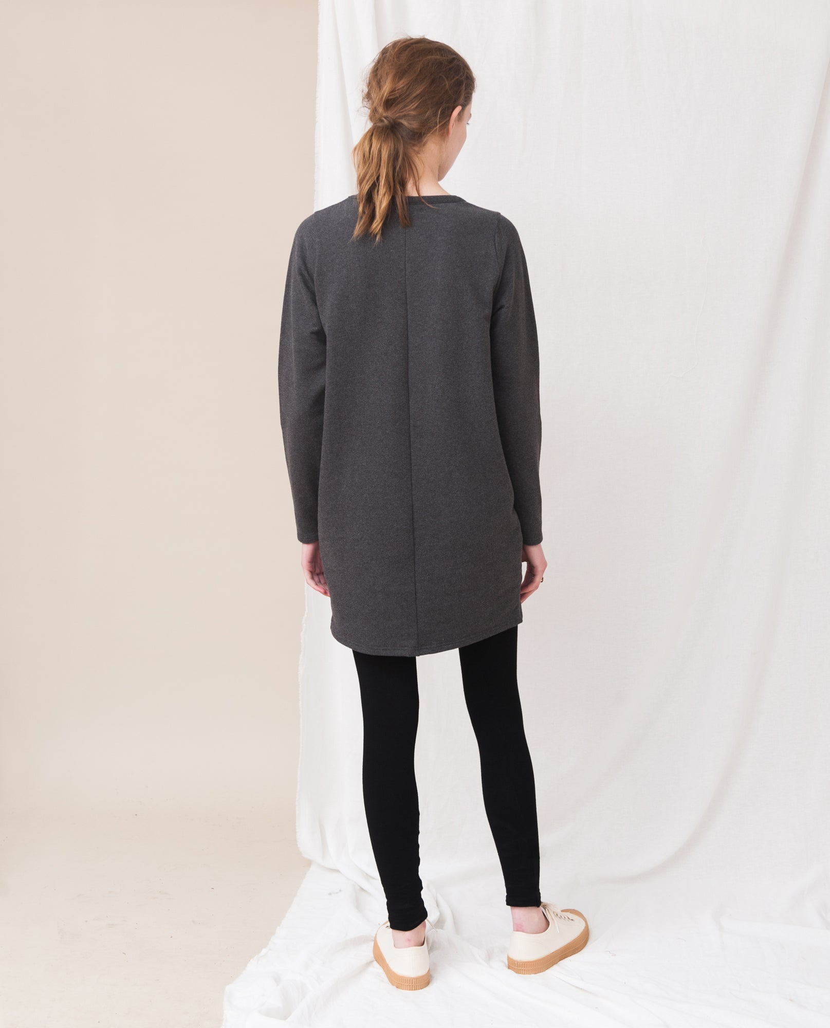 SAM Organic Cotton Dress In Dark Grey
