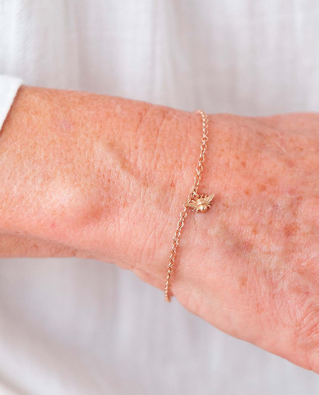 Bee Bracelet in Recycled Rose Gold