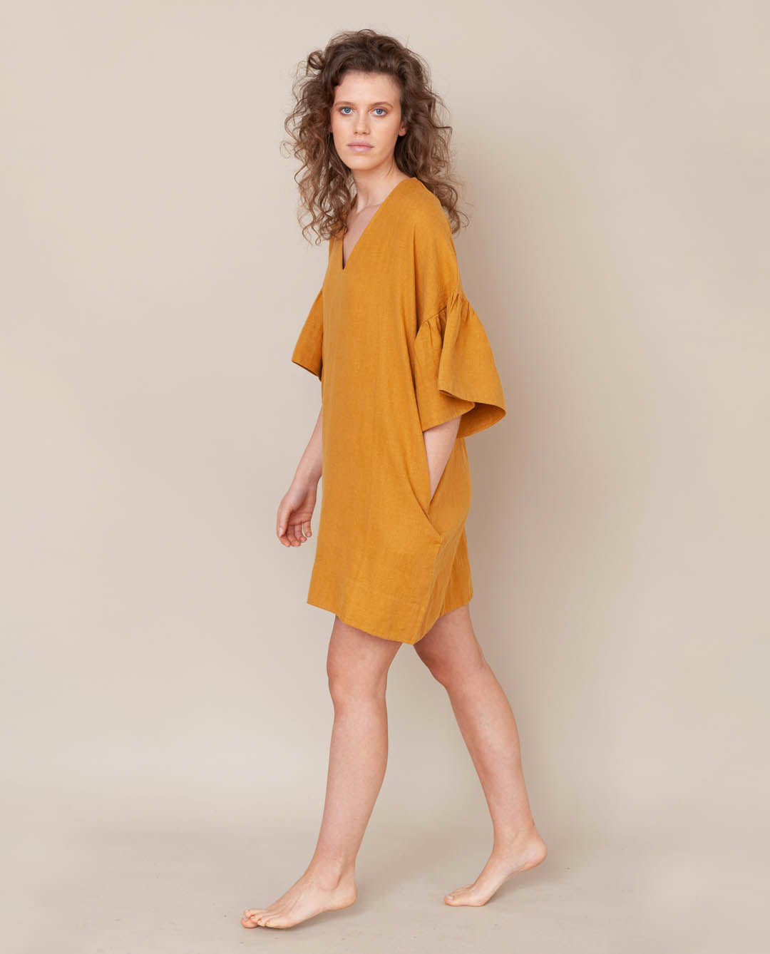 Bee-May Linen Dress In Sun