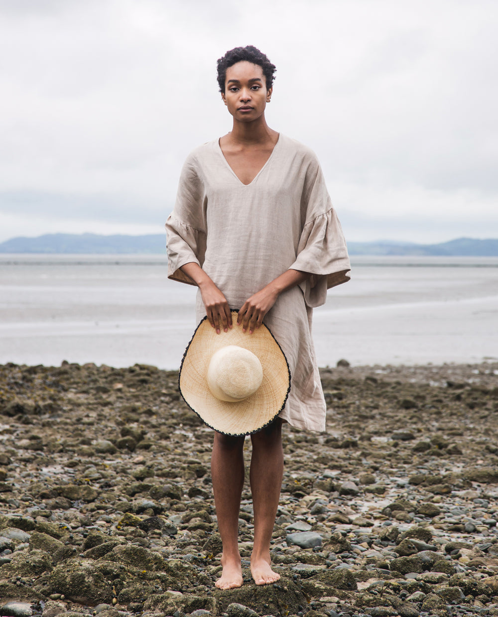 Bee-May Linen Dress In Sand.