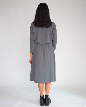 Bellamy Organic Cotton Dress In Charcoal