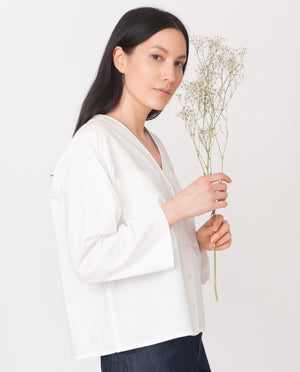 BELLA Organic Cotton Shirt in White