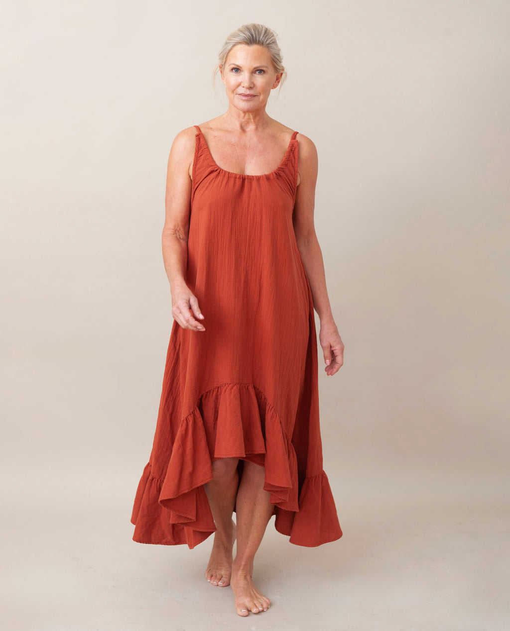 BELMIRA Organic Cotton Nightie In Cinnamon