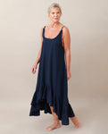Belmira Organic Cotton Dress In Deep Indigo