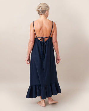 BELMIRA Organic Cotton Nightie In Deep Indigo
