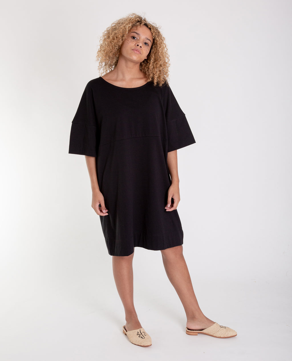 CARLA Organic Cotton Dress in Black