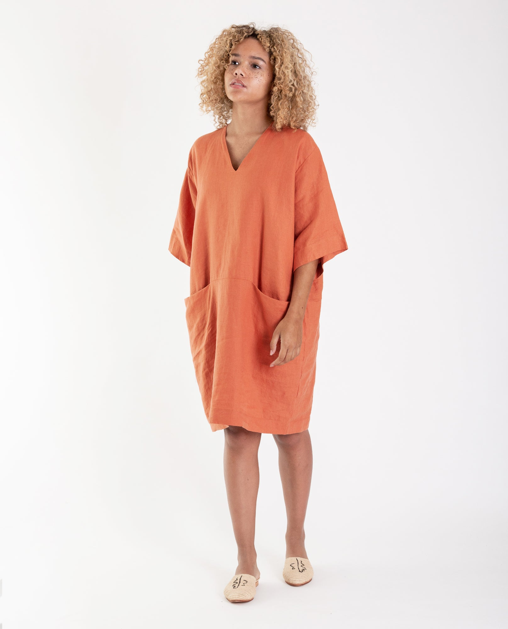 BIA Linen Dress In Madder