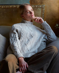 BLYTHE Superfine Lambswool Jumper In Swansdown