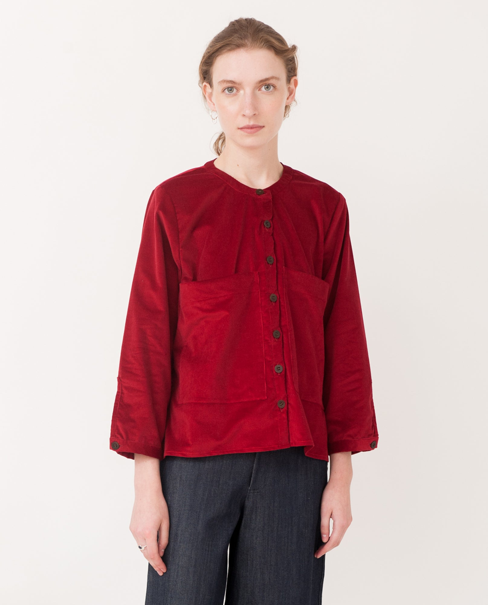 BONNIE Organic Cotton Cord Shirt In Red