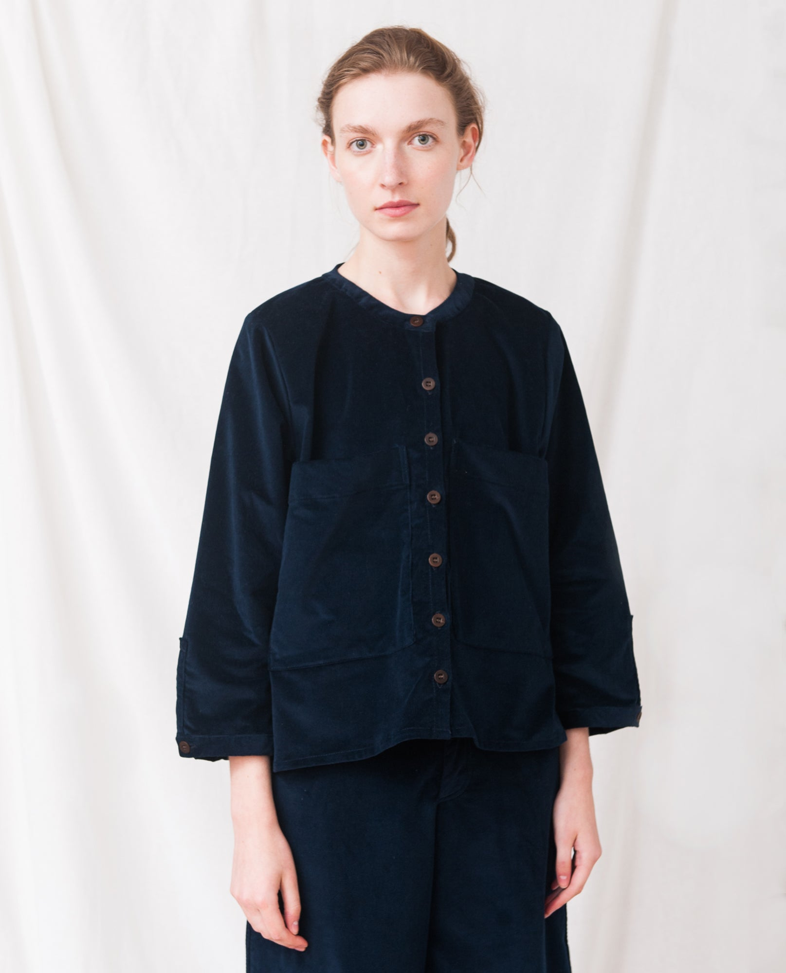 BONNIE Organic Cotton Cord Shirt In Navy