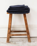 BRIGIDA Organic Cotton Swaddle Blanket In Deep Indigo