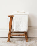 BRIGIDA Organic Cotton Swaddle Blanket In Off White