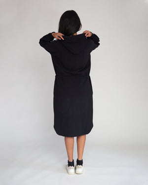 Bridget Organic Cotton Dress In Black