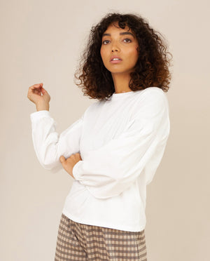 CARIN Organic Cotton Top In Off White