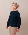 CARIN Organic Cotton Top In Deep Indigo