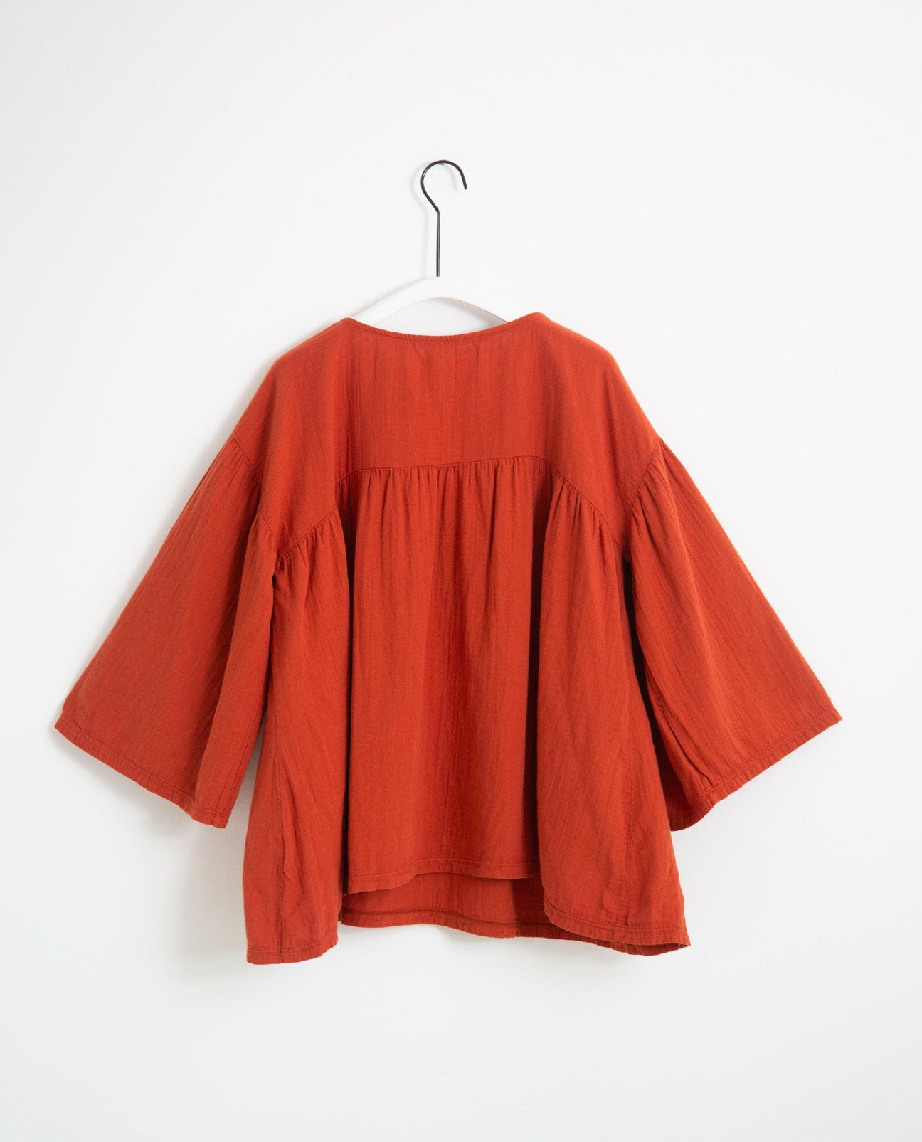Carlotte Organic Cotton Top In Cinnamon