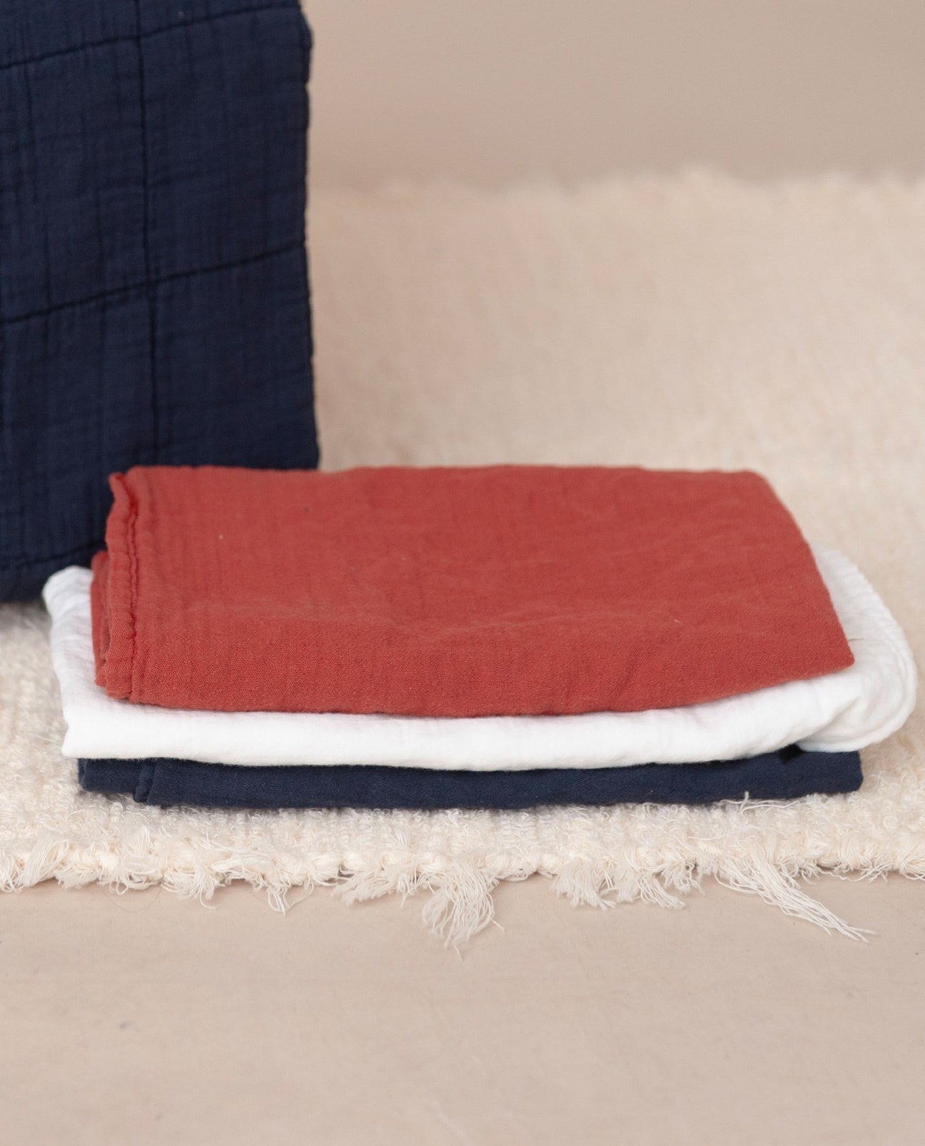 CARMO Organic Cotton Muslin Cloth In Cinnamon
