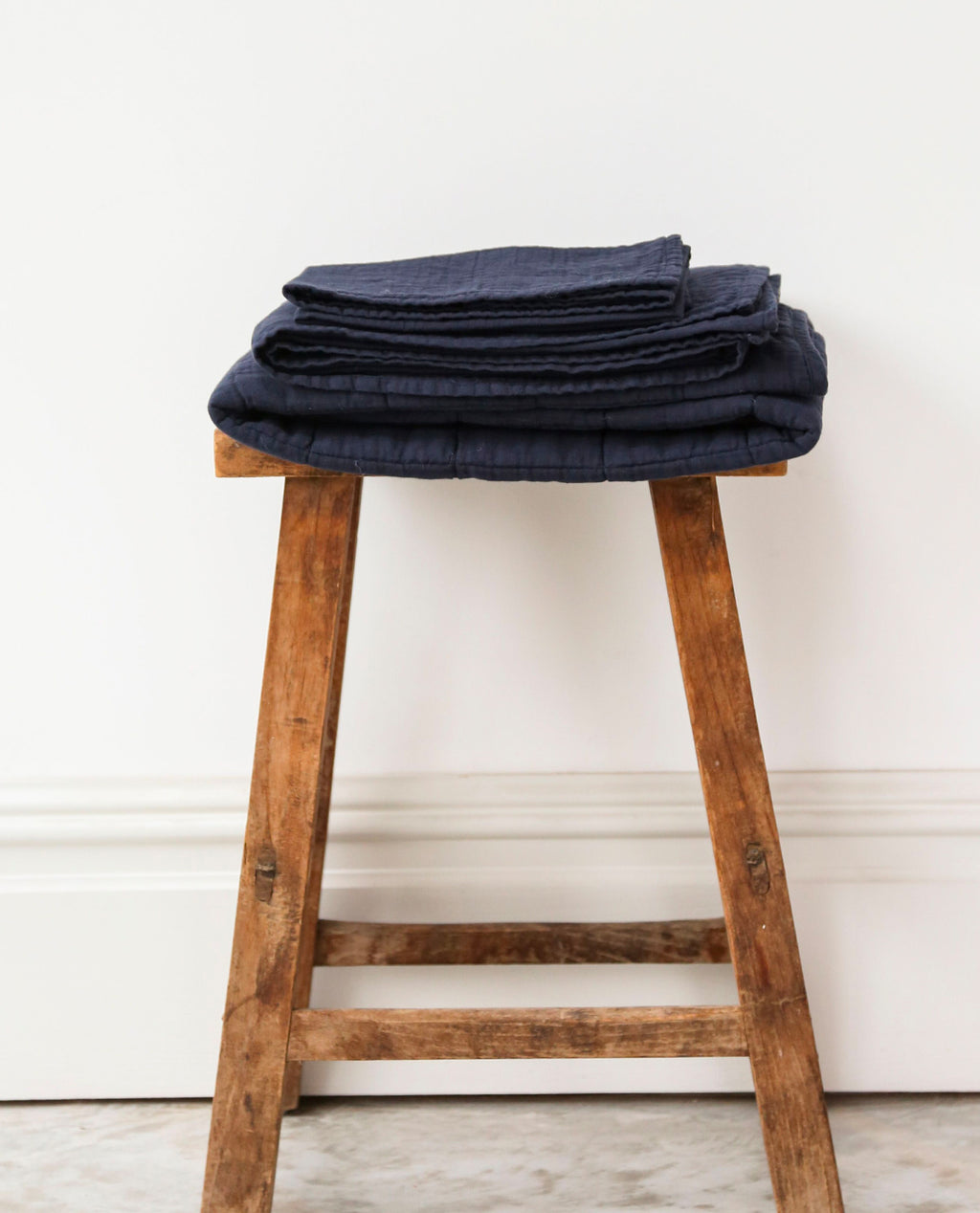 CARMO Organic Cotton Muslin Cloth In Deep Indigo
