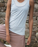 Catori Organic Cotton Yoga Top In Grey