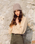 Celia Organic Cotton & Tencel Shirt In Camel