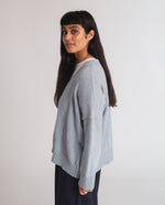 Charis Recycled Cotton Cardigan In Pale Blue