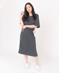 CLEO Lyocell Dress In Grey Marl