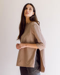 Corinne Organic Cotton Top In Mocha