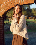 Davina Lambs Wool Jumper In Oat