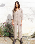 Diana Organic Cotton & Tencel Jumpsuit In Taupe
