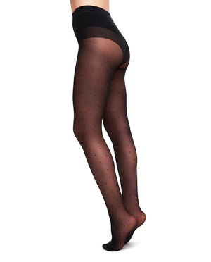 DORIS Dots Tights Black