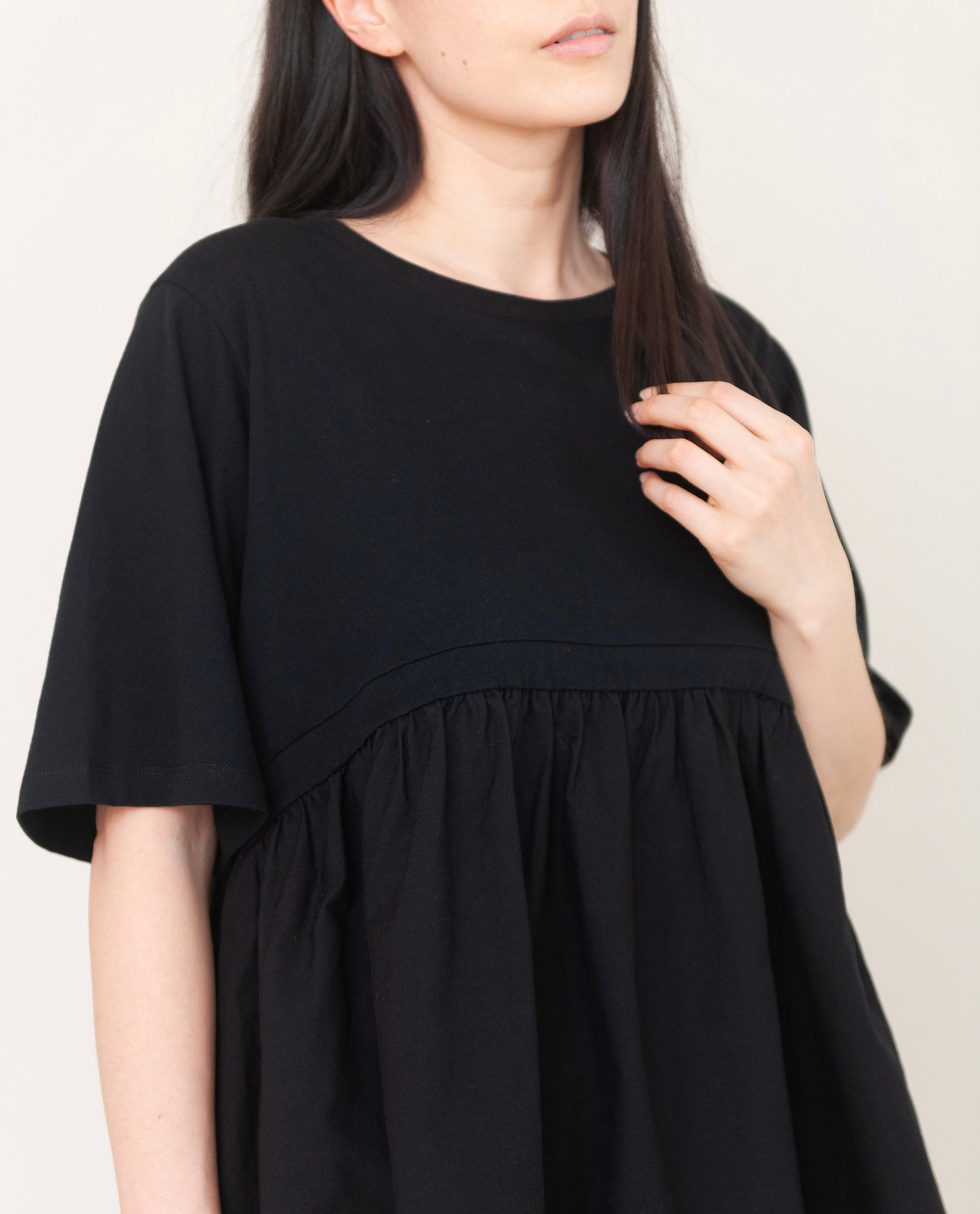 DOROTHY Organic Cotton Top In Black