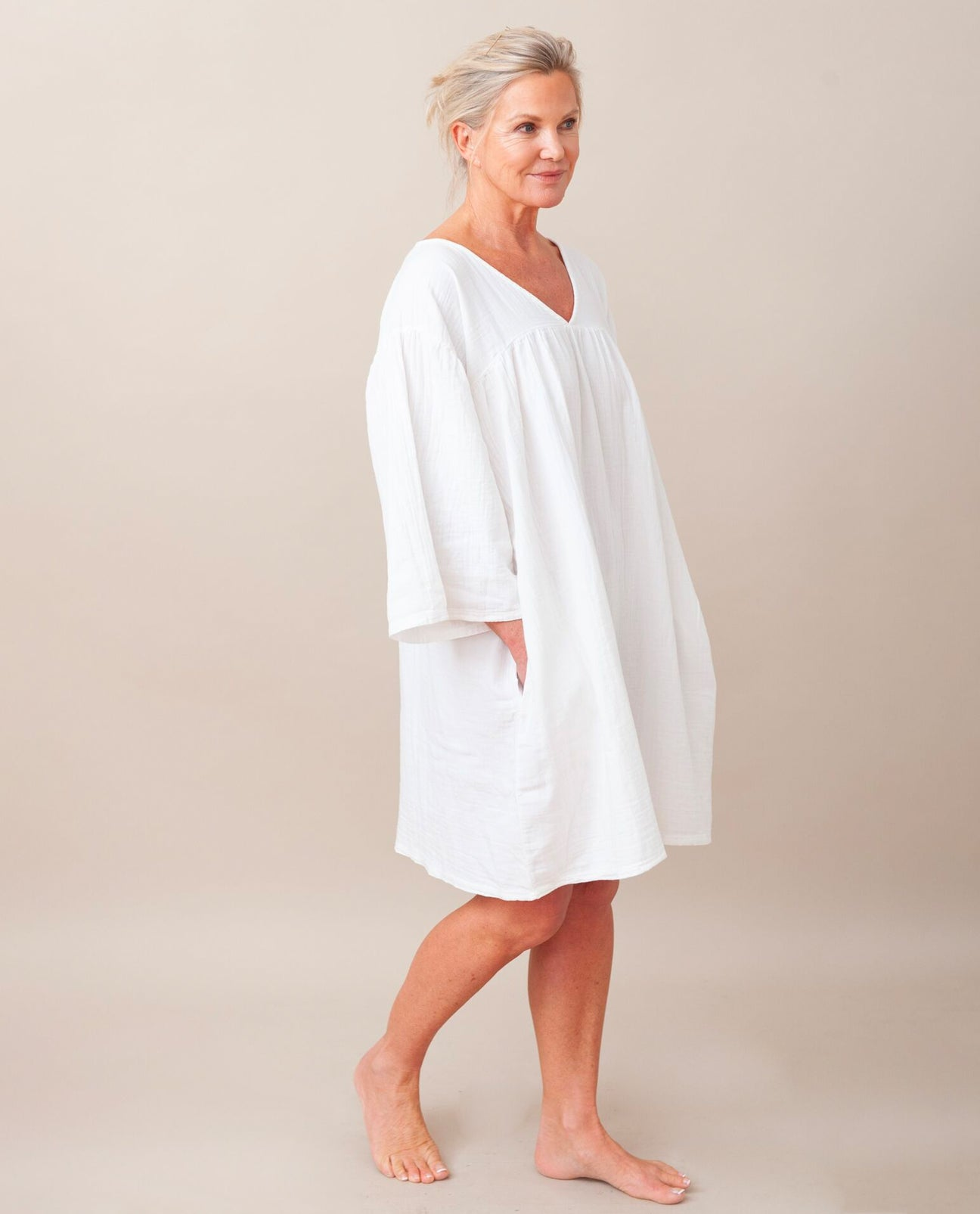 DYLLA Organic Cotton Dress In Off White