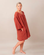 Dylla Organic Cotton Dress In Cinnamon