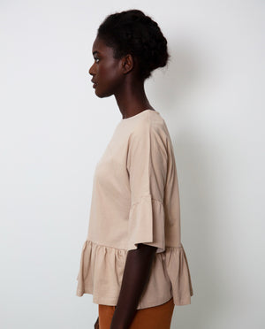 Ellice Organic Cotton Top In Nude