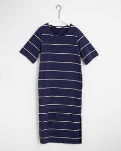 Ellie-Sue Organic Cotton Dress In Midnight & Natural